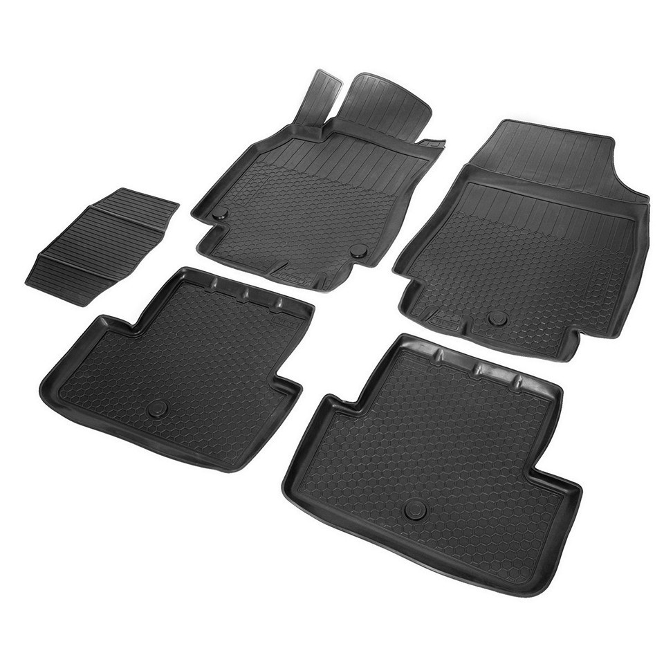цена на Floor mats into saloon for Renault Fluence 2010-2018 5 pcs/set (Rival 14704001)