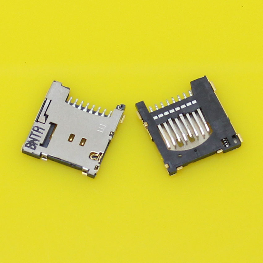 100% New Push TF+Micro SD Card Socket Reader Holder Tray Slot Connector. 2pcs/lot.