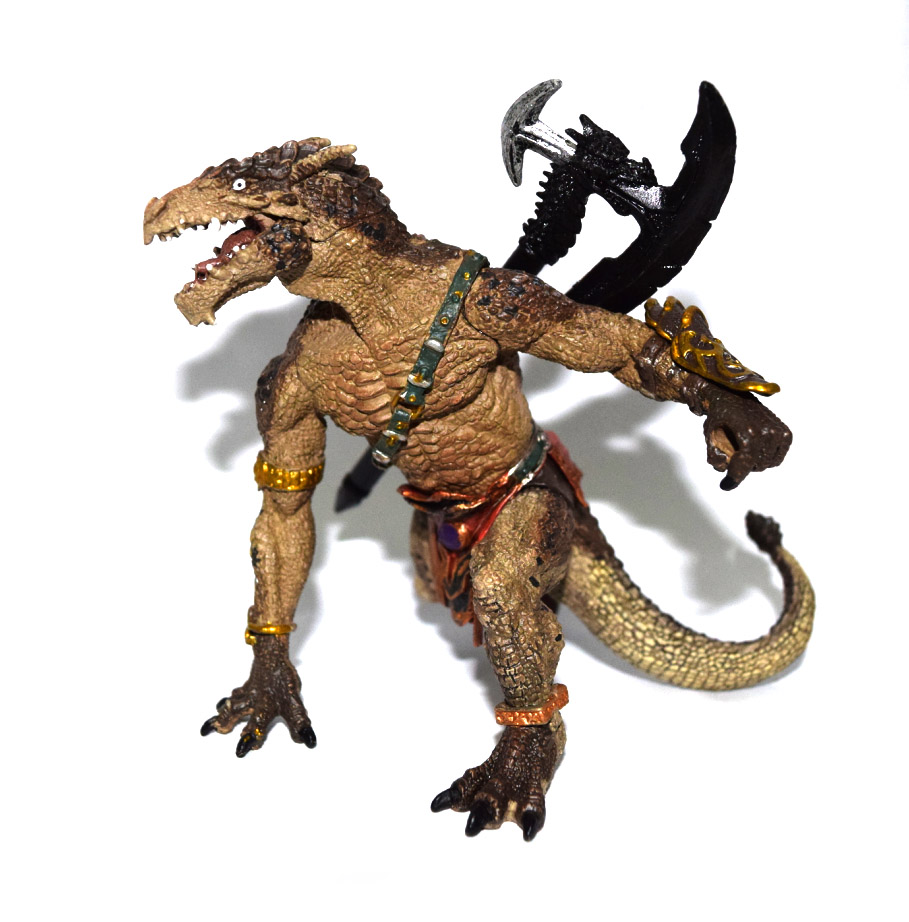 Papo Mytical Dragon Warrior Sword Missing Statue Figure Figurine figurine
