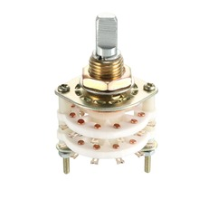 UXCELL 1PCS 12Pin 1/2 Pole 4/5/6/7/10/11 Position Switch Selec Table Single Deck Band Selector Rotary Switches Accessories