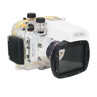 40M WP DC44 Waterproof Underwater Housing Case 40M/130FT For Canon G1X Camera 18mm lens with Hand strap with O ring