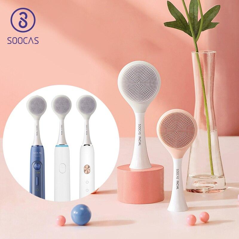 Soocas X3 X1 металл-свободно Флокирование сменная насадка для электрической зубной щетки чистой насадка для электрической щетки xiaomi soocare головк...