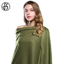 FS Luxury Brand Solid Color Tassel Cashmere Scarf Winter Warm Long Head Scarves Women 2017 Wool Shawls Wraps Echarpe Pashmina