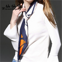 Xianxianqing 2017 100%サテンシルク小さなスカーフシルク多機能小さなスカーフbandans、ボヘミアスタイル