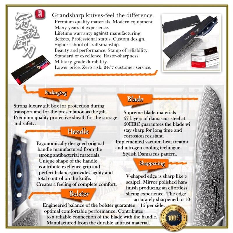 Nouveau couteau Santoku 67 couches japonais damas acier inoxydable VG 10 Chef cuisine couteau damas outils de cuisine Sushi Sashimi-in Couteaux de cuisine from Maison & Animalerie    3