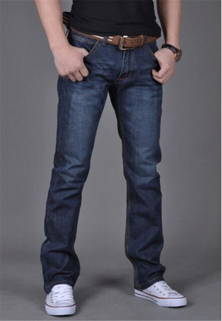 Casual Slim Jeans Jeans Men color: Blue