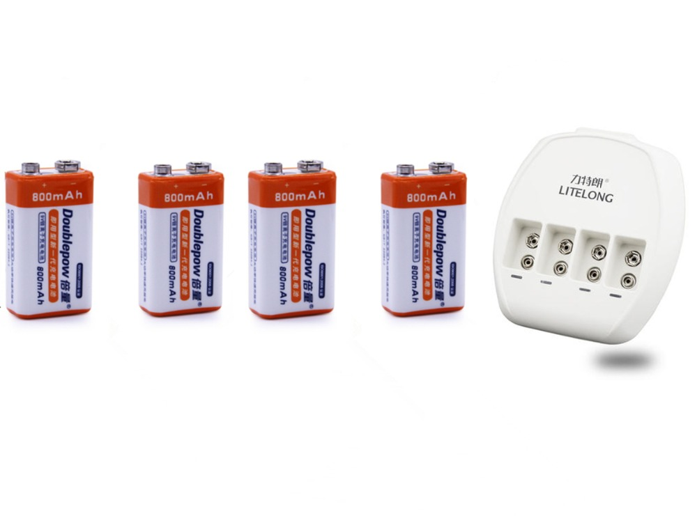 все цены на 4PCS 9V 800mAh lithium ion rechargeable battery + 4 slot 9V Ni MH / Ni Cd / lithium ion battery universal charger
