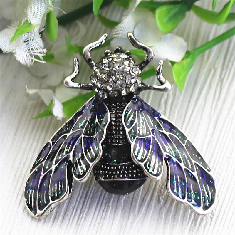 Vintage Lebah Bros DROP Glaze Enamel Dicat Serangga Dikenal Beetle Bros Pasangan Jarum Grosir