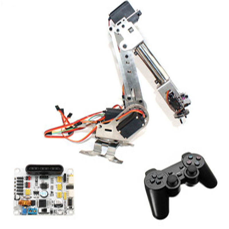 US $177 59 52% OFF|6DOF Mechanical Arm 6Axis Rotating Manipulator Robot Arm  Clamp Kit with Servo for Arduino For Kids Science Education RC Toys-in