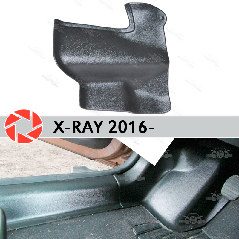 Фото - Plate of inner lining under feet trim for Lada X-Ray 2016- trim accessories protection of carpet styling protective covers dvd blu ray