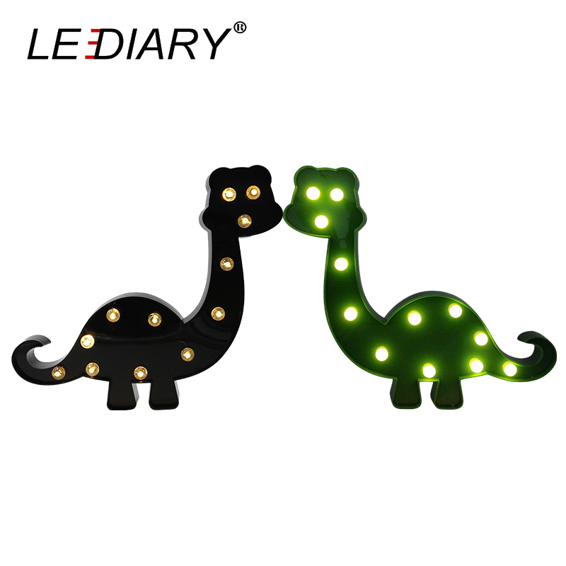 LEDIARY Cute Dinosaur LED Night Light 3 Colors Decoration Lamp Warm White Christmas Night Lights Animal Bedside lamp For Kids creative cute green cartom car led night light for children baby kids white warm white bedside lamp resin night lamp gift