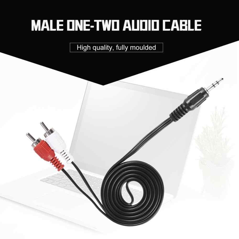 Baru 1/8 Inch 3.5 Mm Jack untuk 2 RCA Male Audio Stereo Earphone Headphone Headset Y Splitter Adaptor Kabel