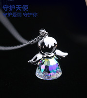 2017 New Guardian Angel Crystal From Swarovski Maxi Necklace Collier Wholesale Fashion Jewelry 925 Silver Name