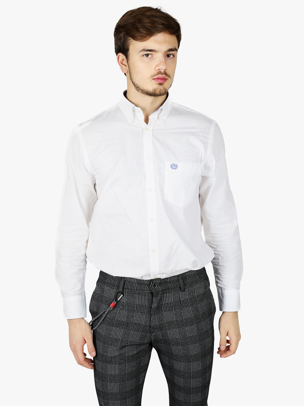 White Shirt Classic Fit With Pocket