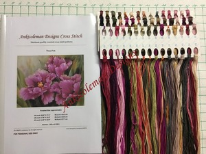 Image 3 - الشتاء هدية عد عبر عدة خياطة DIY اليدوية تطريز للتطريز 14 ct الصليب الابره مجموعات DMC اللون