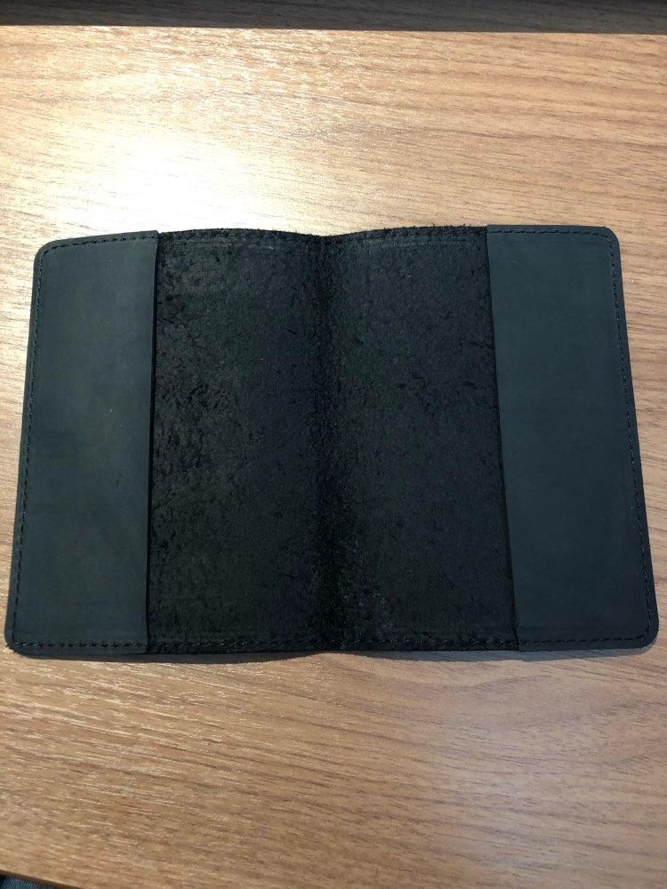 Echt leer paspoort Cover voor Verenigde Staten Solid Credit Card Holder Zakelijk paspoort Case Unisex reisportemonnee photo review