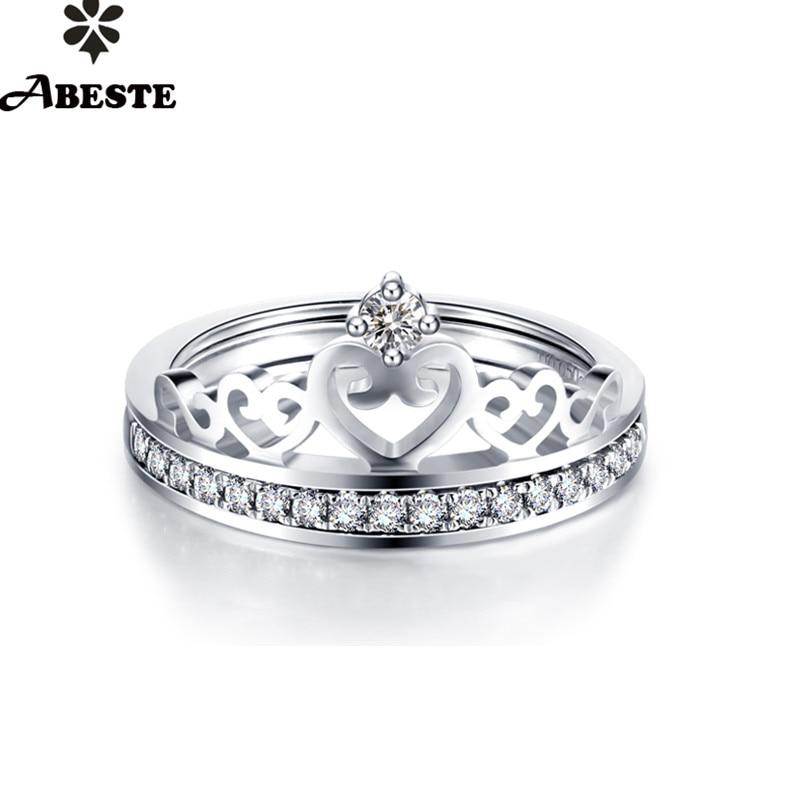 ANI 18 K blanc/jaune/or Rose (AU750) femmes mariage 0.15CT certifié I-J/SI réel diamant naturel bague ensemble couronne personnalisé anelli