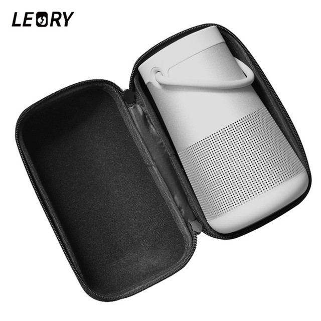 LEORY Travel Carrying Strap Speaker Case for BOSE Soundlink Revolve+  Wireless Bluetooth Speaker Protector Bag Anti Shock-in Speaker Accessories  from