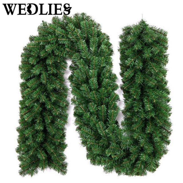2 7m Green Christmas Tree Garland Pine Wreaths Artificial Plants Navidad Party Ornaments Decorations For