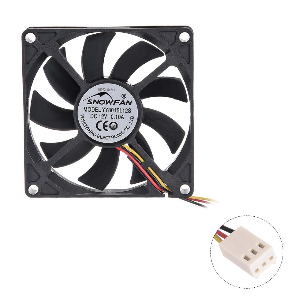 UXCELL 1pcs SNOWFAN Authorized Brushless DC Cooling <font><b>Fan</b></font> 12V 80x80x25/<font><b>80x80x15</b></font>/70x70x15/50x50x10mm 6600/4800/4000/3800/3700R.P.M. image