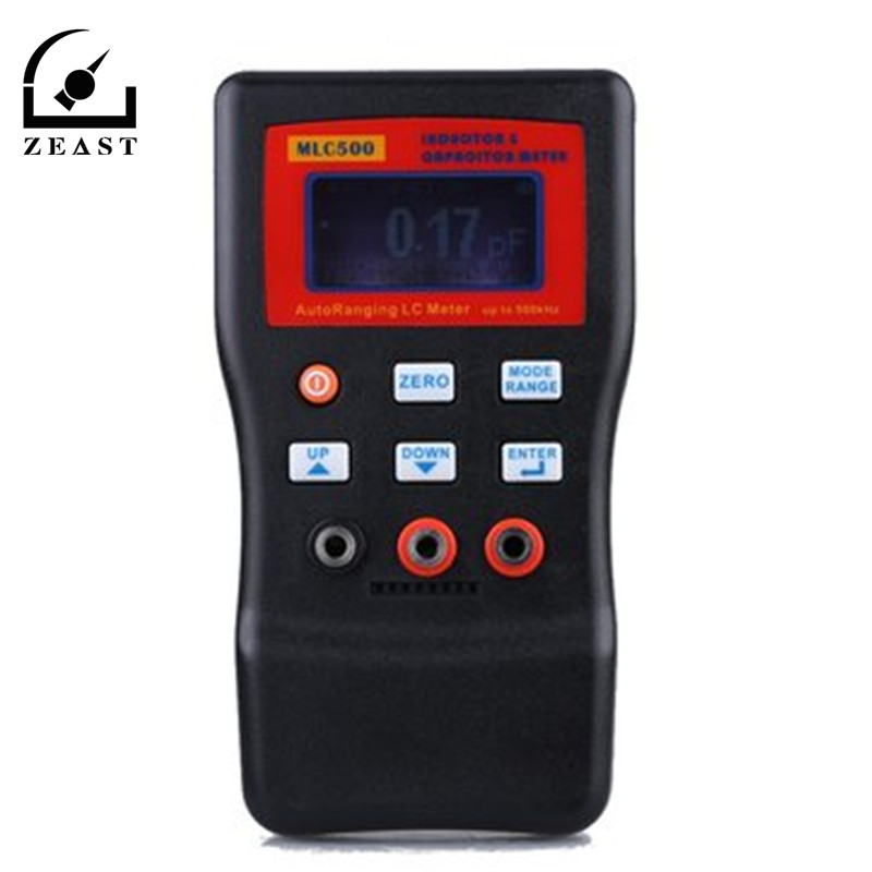MLC500 Electronic Capacitance Inductance Meter Digital Bridge LC Meter Multimeter LC RC Oscillation To 100H 100mF high precision digital capacitance inductance meter auto ranging component tester 500kh lc rc oscillation inductance multimeter