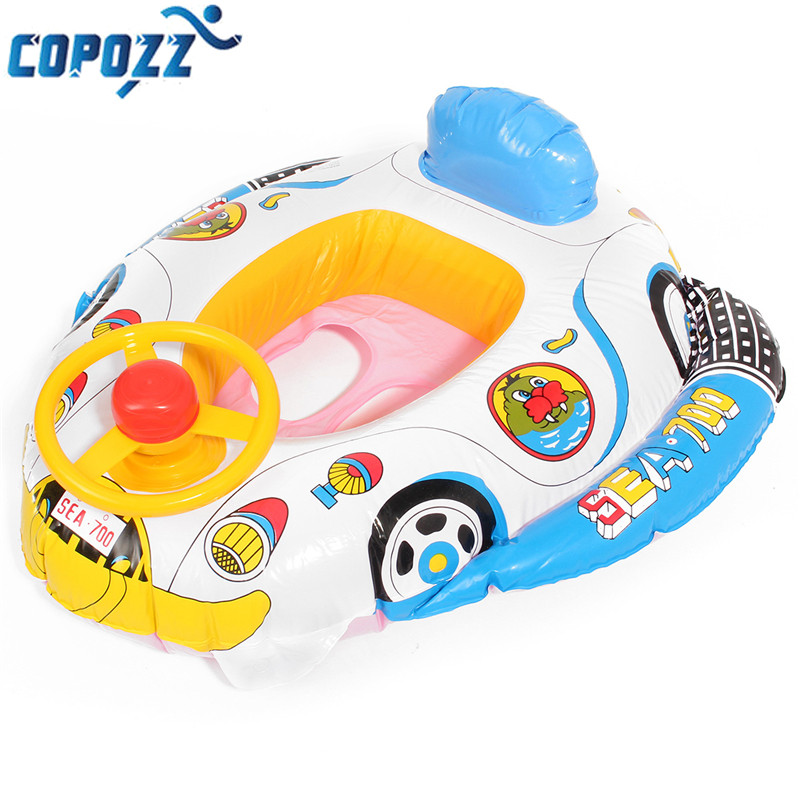 copozz pvc baby swimming ring inflatable car steering wheel kids trainer toy seat float pool