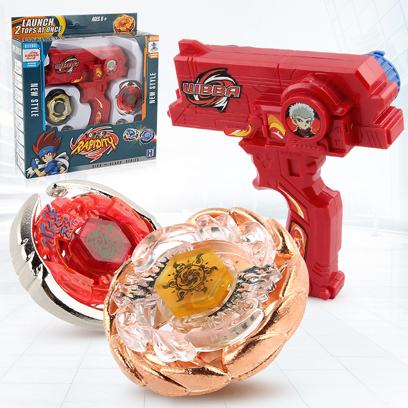 Beyblade Metal Fusion Toys For Sale Beyblades Spinning Tops Toy Set Beyblade Toy with Dual Launchers Hand Spinner Metal Tops metal stress relief spinner toy hand finger gyro