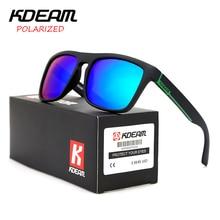 CE certification KDEAM Polarized Sunglasses Men Sport Sun Glasses Driving Women Mirror lens Square Frame UV400 With Case KD156