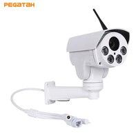 HD WI FI P2P открытый пуля 4X Оптический зум 2,8 12 мм объектив Мини PTZ пуля AHD камера 4 шт., светодиодная матрица, ИК 50 м