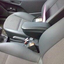 Для Opel Astra H 2004-2014 Автомобильный подлокотник с внутренним боксом и сдвижой крышкой черный POAH56