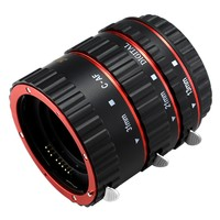 Red Metal Auto Focus Macro Extension Tube Set For Canon SLR Cameras CANON EF EF S