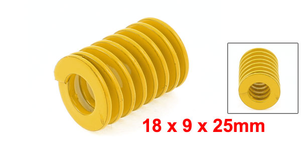 Uxcell Od 18mm Id 9mm Chromium Alloy Steel Mould Die Spring Yellow Long 25mm 45mm 65mm 70mm 80mm 90mm in Springs from Home Improvement