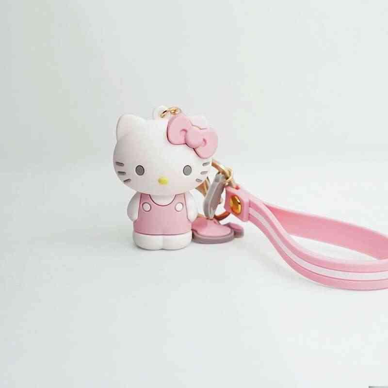 2019 3D Criativo Pudim Cão Cinnamoroll Sanrio Série My Melody Olá Kitty Keychain Saco Chaveiro Pingente para Meninas toy Figura