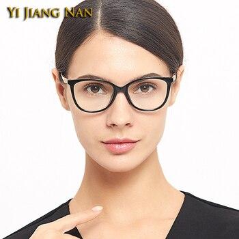 80f5761040 Yi Jiang Nan marca Vintage de moda redonda de diseñador de gafas de Mujer  montura gafas prescripción Lentes Mujer gafas