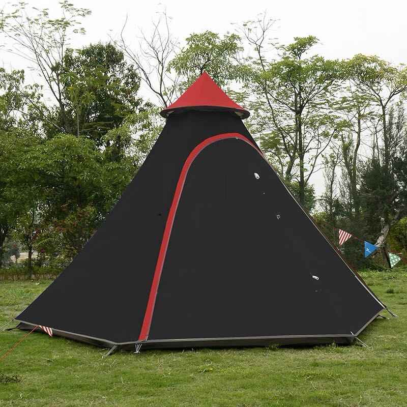 detailed look 394f3 e3425 Indian Style Pyramid Tipi Tent UNI 10ft Double Door Waterproof Mesh Teepee  Camping Luxury Mongolian Yurt Family Tent Lightweight