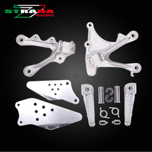 Front Foot Rests Pedal Bracket Assembly Kit For Kawasaki ZX-6R 636 2005 2006 2007 2008 ZX6R 05-08 Motorcycle Parts