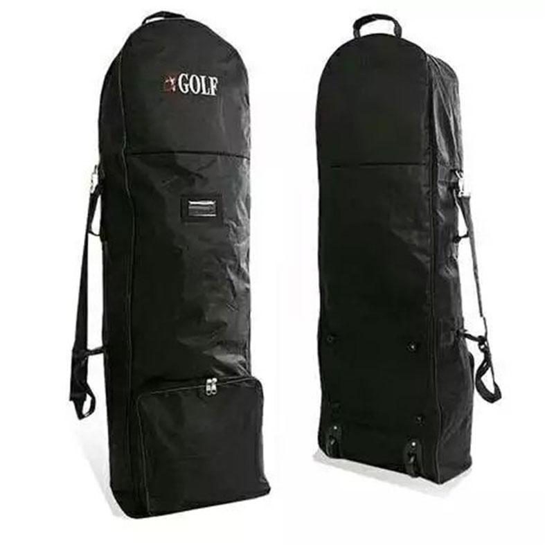 طوي جولف الهواء حزمة جولف الطيران حقيبة مع عجلات مبطن حقيبة غولف مزدوجة سستة خفيفة الوزن عربة الغولف حقيبة السفر