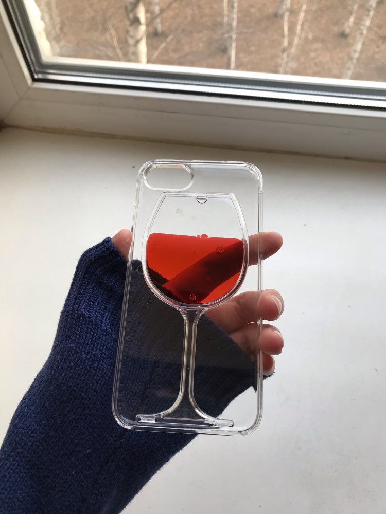 For iphone X case red Wine Cup Liquid Transparent Case For Apple iPhone 7 6 6S 8 plus XR XS MAX Phone Cases Back Covers