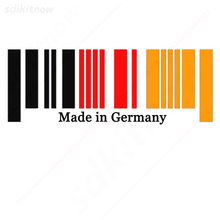 9x25cm New Made in Germany Flag Bar Code Car Stickers PVC Decal Styling For Benz BMW Audi Porsche Volkswagen OPEL Smart Maybach