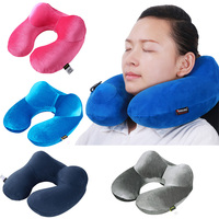 Inflatable Neck Pillow U Shape Travel Pillow For Airplane Travel Accessories Comfortable Pillows For Sleep Home