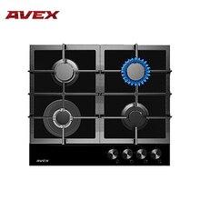 Встраиваемая панель с газконтролем, чугунными решетками AVEX HM 6044 B