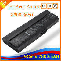 11 1V 7800mAh 9 Cell Li Ion Brand New Laptop Battery For Acer Aspire 3600 3680