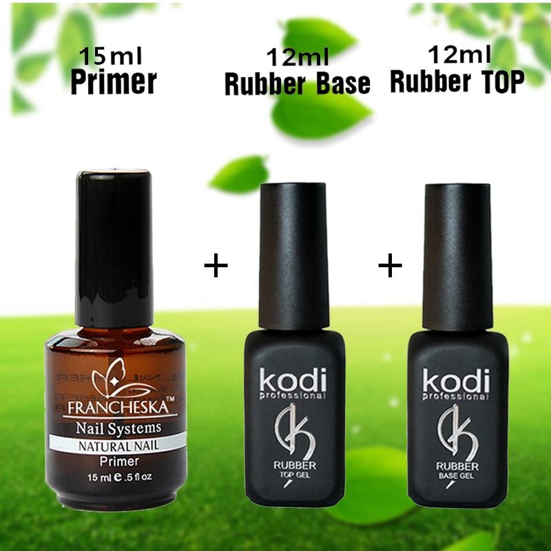 Kodi goma base top soak off top coat base coat uv gel esmalte de ...