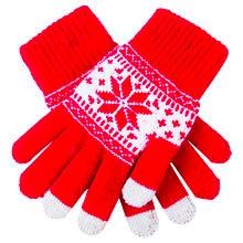67e2ee0c425acb Leuke Kerst Warm Winter Handschoenen Snowflake Gedrukt Gebreide Touch  Handschoenen Mannen Vrouwen Handschoenen Touch Screen Handschoen