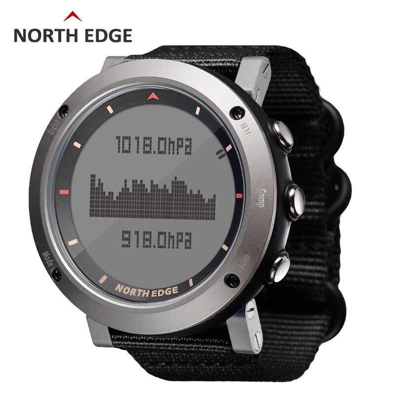 Северная край Для мужчин спортивный цифровые часы армии часов Бег Плавание Спорт военные часы высотомер барометр компас водонепроницаемый
