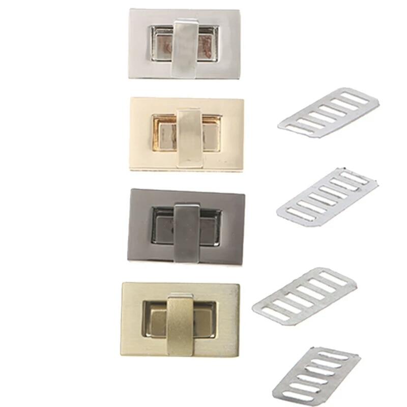 THINKTHENDO Mode Metalen Tas Accessoires Rechthoekige vorm Sluiting Twist Slot DIY Handtas Tas Portemonnee Hardware photo review