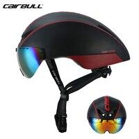 2020 Cairbull Aero R1 Magnetischen Sog Objektiv Helme Bike In mold TT Helm Road Racing Fahrrad Pneumatische Goggles Helme 54  60cm-in Fahrradhelm aus Sport und Unterhaltung bei