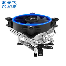 PCCOOLER 12cm Air CPU Cooler Cooling Fans 4 Heatpipes LED Smart Aura Fan for AMD AM2 Intel LGA 775 115X 2011 Computer Case