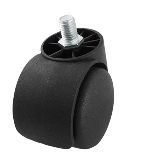 uxcell office chair black 2 twin wheel fixed type caster roller