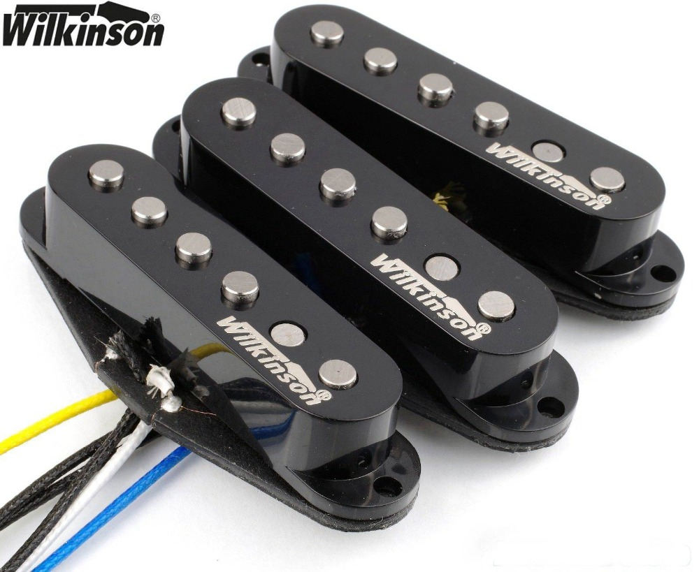 Wilkinson 60 s WVS Alnico V Single Coil Guitar Pickups for Stratocaster Guitar Black 1 set